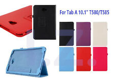 """PU Leather Slim Folio Case Cover Stand For Samsung Galaxy Tab A 10.1"""" T580/T585"""