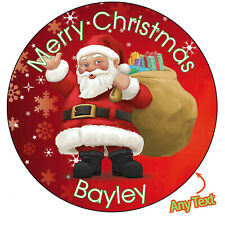 Personalised Father Christmas Xmas Santa Stickers Present Gift Seal Label - 872