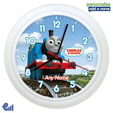 Thomas the Tank Engine Wall Clock Personalised Gift Kids Bedroom Boy Childrens