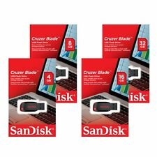 Sandisk 8/16/32/64GB GB Cruzer Blade CZ50 USB 2.0 Flash Stick Pen Drive