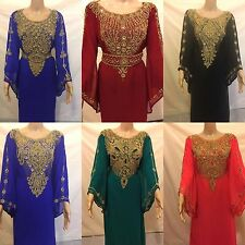 FANCY Style DUBAI kaftan farasha Jalabiya maxi dress abaya- Fits for all *