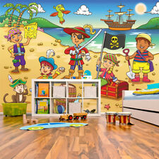 scene de chambre tapisserie pirate papier peint pirates ebay. Black Bedroom Furniture Sets. Home Design Ideas