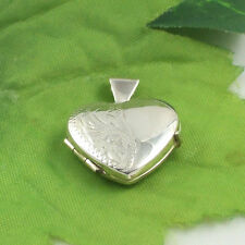 Sassi SLK11 Ladies Small 925 Sterling Silver Half Engraved Heart Shaped Locket