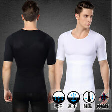BEST BODY WAIST CHEST SHAPER UNDERWEAR SHIRT FOR MEN ABDOMINAL TORSO TONER UK