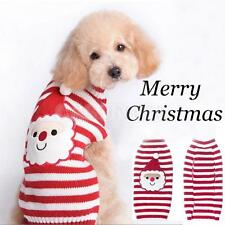 XMAS CUTE SANTA STRIPED PET DOG JUMPER SWEATER CLOTHES KNITWEAR COSTUME XXS-XXL