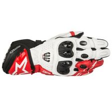 Alpinestars GP Pro R2 Leather Racing Track Motorcycle Gloves Black/White/Red