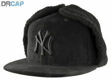 New Era 59Fifty New York Yankees MLB DogEar Black on Black Fitted Baseball Cap