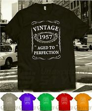 VINTAGE 1957 AGED TO PERFECTION T-shirt 60th cadeau d'anniversaire âgé de 60 ans