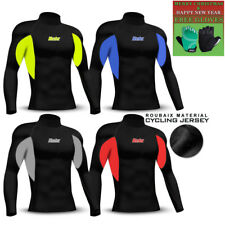 Mens Jersey Thermal Winter Cold Weather Long Sleeve Cycling Sailing