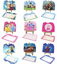 SET OF 6 FROZEN PARTY INVITATIONS KIDS,CHILD BIRTHDAY PARTY INVITATION CARD