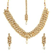 9Blings Party wear kundan Indian Bollywood necklace set O120225