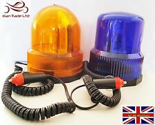 Amber/Blue Magnetic Revolving Beacon Warning Signal Flashing Light Emergency