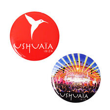 OFFICIAL Ushuaia Ibiza: Stage Logo Fridge Magnet 2 pack Red Blue RRP £15.00