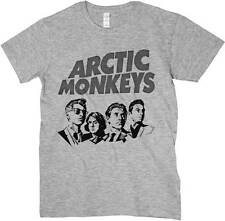 T-shirt Arctic Monkeys, T-shirt grey, drawing music Indie Rock Alternative