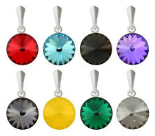 Sterling Silver Rivoli Pendants made with 1122 14mm Popular Swarovski® Crystals