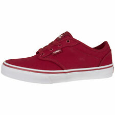 Vans Atwood Youth Sneakers Trainers Skate Shoes - Red / White - UK Size 3 - 6