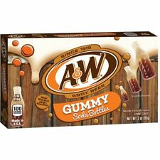 Original A&W Root Beer Gummy Theatre Box American Soft Chewy Candy Sweets Flavor