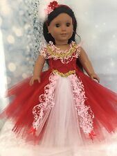American Girl Doll Elena Of Avalor Tutu Dress fits all 18