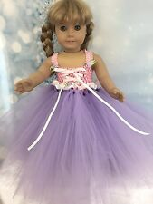 American Girl Doll Rapunzel Inspired Beautiful Tutu Dress fits all 18