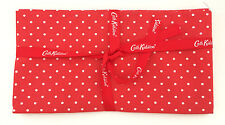 Cath Kidston Printed Cotton Fabric - 150 x 50cm - Little Spot, Red + Ribbon NEW!