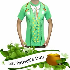 Fancy Dress Party ST PATRICK'S Day IRISH Themed Novelty Shamrock T-Shirt TOP