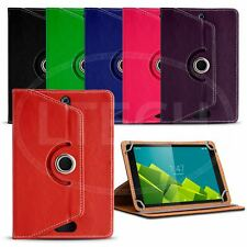 Fits Android 8 inch Tablet - 360 Rotating Leather Style Universal Tablet Case