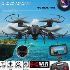 SKD20W WiFi FPV 2MP Camera 2.4GHz 4 Channel 6 Axis Gyro Quadcopter 3D Rollove UK