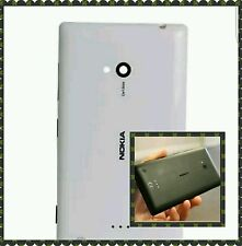 Nokia Lumia 720 Replacement Back Rear Battery Door Glass Panel-(White,Black)