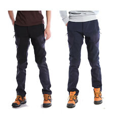 Mens Softshell Waterproof Hiking Climbing Outdoor Tactical Pants Cargo Trousers