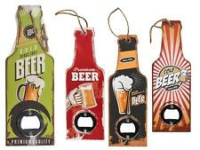 Retro Beer Shaped Wooden Bottle Opener