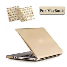 MacBook Air Pro Retina 11 12 13 15 inch Gold Rubberized Hard Case+Keyboard Cover