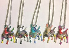 English Bull Terrier Pendants, Patchwork Enamel Statement Unique Bullie Necklace