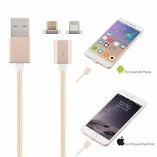 NEW 2 in 1 Magnetic Charger Sync Cable BRAIDED USB iPhone 5/6/7 &Android Devices
