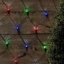 6 x Red decorativa luces de Navidad solares LED jardin exterior balcòn