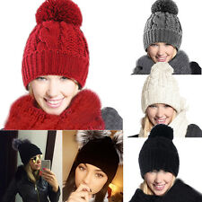 2pcs/Set Women Warm Woolen Knit Hood Scarf Shawl+Winter Baggy Beanie Caps Hats