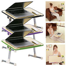FOLDABLE PORTABLE LAP TABLE DESK STAND SOFA BREAKFAST BED TRAY TABLET LAPTOP