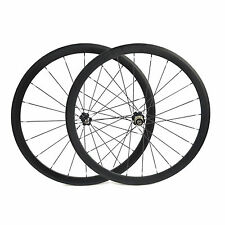 700C Carbon Ruote 38mm Tubolare UD 3K Finish Carbon Set ruote