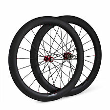 60mm Tubolare 700C Carbonio Road Bicicletta Set Ruote Bike ruote