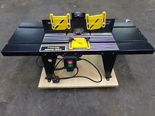 HARDLY USED TOOLTEC WOODWORKING ROUTER BENCH AND POWER DEVIL 850W ROUTER