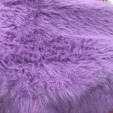 "LONG PILE Lilac Fur Fabric 60"" 150cm wide Plain Material"