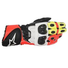 Alpinestars GP Plus R Black White Red & Fluo Racing Motorcycle Gloves