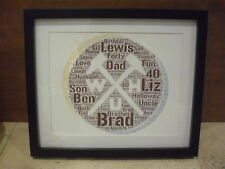 LUXURY WESTHAM personalised WORD ART with frame and mount