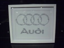 LUXURY AUDI personalised word art picture with frame and mount