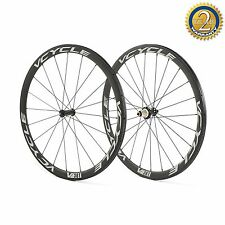 perVCYCLE V38T 700C raggiatura straight-pull 38mm Tubolare Carbon set ruote for