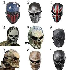 NEW Tactical Outdoor Military CS Wargame Motorcycle Airsoft Skull Full Face Mask