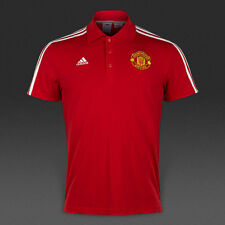 Manchester United adidas Polo T-Shirt Red Football Top Small Mens Boys Junior