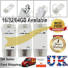 For iPhone IOS Android i-Flash Drive OTG Device Flash USB Memory Stick 16/32/64G