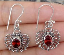 Gemstone Sterling Silver, 925 Balinese Spider Design Earring 31040