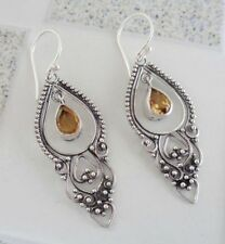 Gemstone Solid Silver, 925 Bali Handcrafted Traditional Design Earring 38778