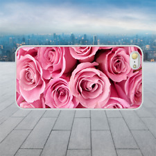 Pink Roses Flowers White Hard Phone Case Cover Fits Iphone Models